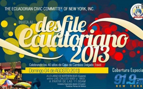 Desfile Ecuatoriano de New York en Queens 2013